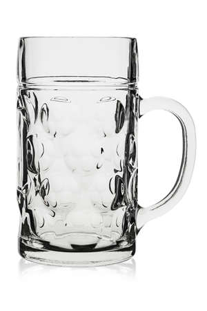 traditional beer glass isolated on white background. file contains clipping path Фото со стока