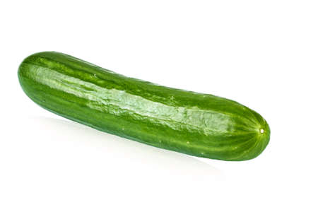 Fresh cucumber isolated on white background. clipping path