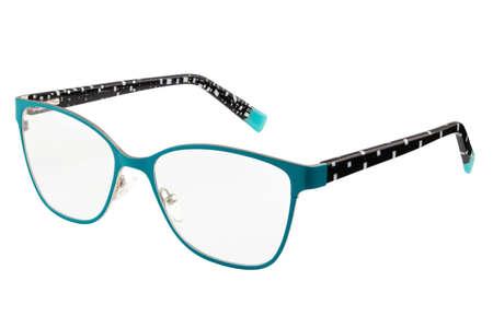 Eye glasses on white background isolated. color-rimmed glasses Imagens
