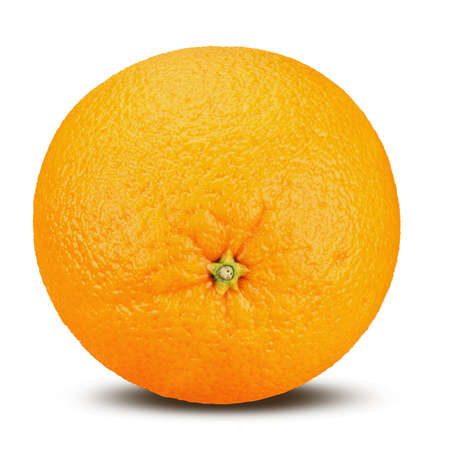 Ripe orange isolated on white background. Clipping Path