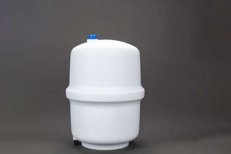 Osmosis apparatus for purifying running water from heavy and harmful substances. place for text