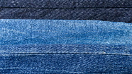 different jeans in color. fabric texture is clearly visible. place for color