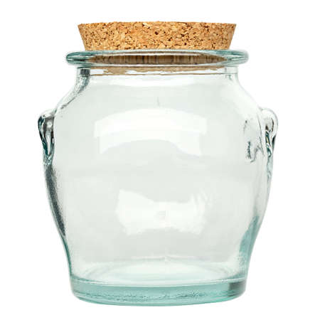 empty spice jar isolated on a white background. file contains clipping path