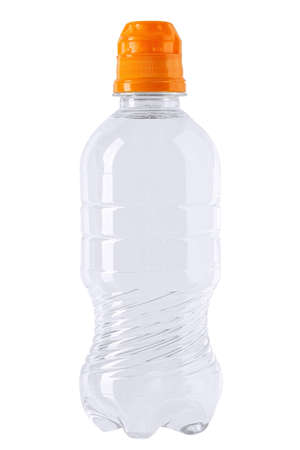 Childrens plastic water bottle isolated on a white background. file contains clipping path