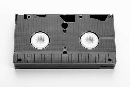 VHS old classic videotape on white background. Retro style. Banco de Imagens