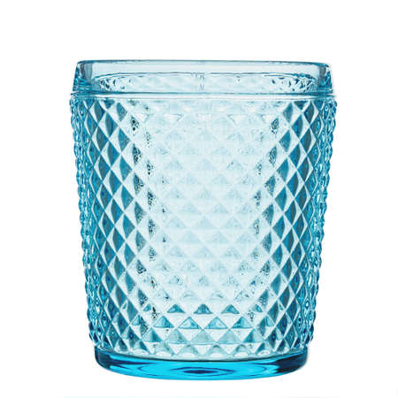 Empty glass for water, juice or milk on white background. File contains