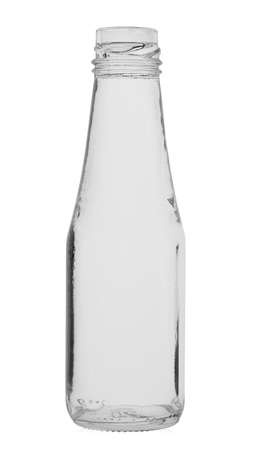 Empty glass bottle without cover isolated on white background. Standard-Bild