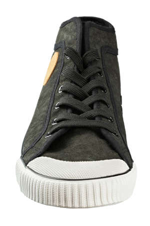Vintage shoes, view of old sneakers. File contains clipping path.