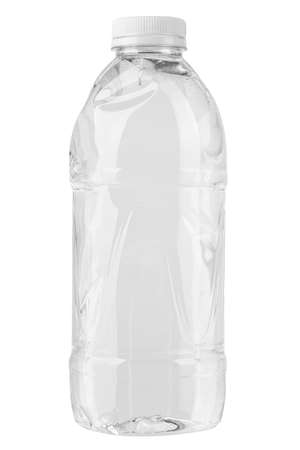 The Plastic bottle of still healthy water isolated on white background. File contains clipping path.