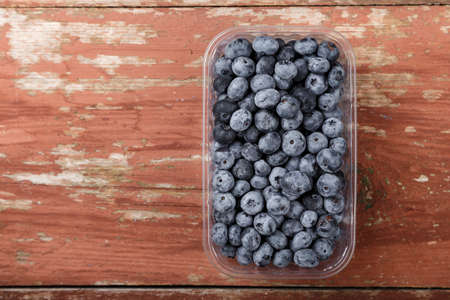 Blueberry antioxidant organic superfood in a plastic container