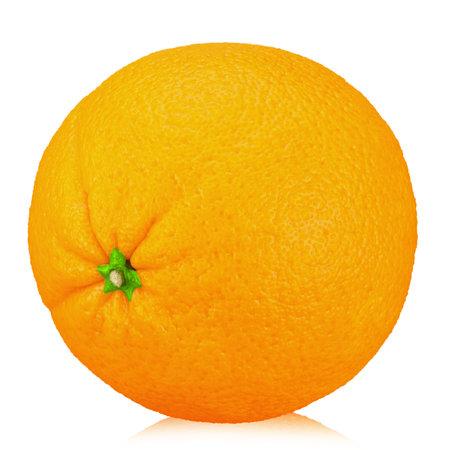Orange fruit isolate. Orange isolated on white. 写真素材