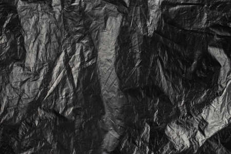 background oilcloth, packing von oilcloth black color. Top view. 写真素材