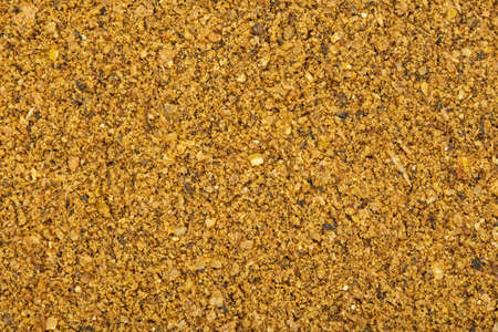 Fishing feeder mixed groundbait. Aromatic baits and gear for carp. Dry feed for bream and roach fishing. Top view. Stock fotó