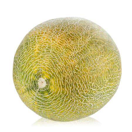 Ripe melon isolated on white background. Imagens