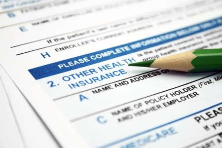 Health insurance form  photo