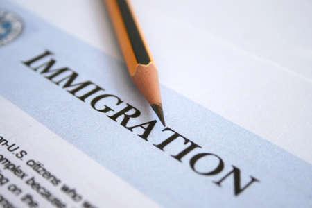Inmigración Foto de archivo