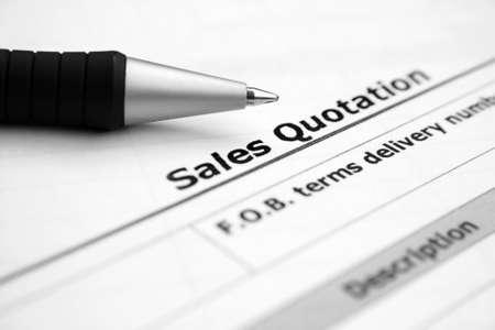 Sales quotation  Stock Photo