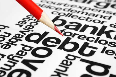 overdraft: Debt Stock Photo
