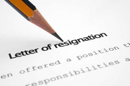 quit: Letter of resignation
