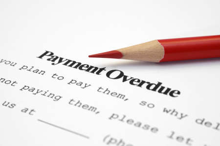 debt collection: Payment overdue  Stock Photo