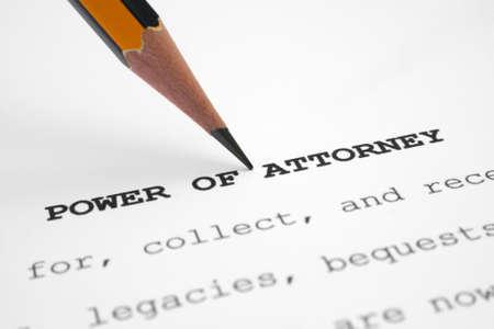 Power of attorney Stock Photo - 11298453