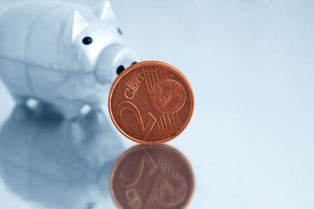 Euro and piggy bank   photo