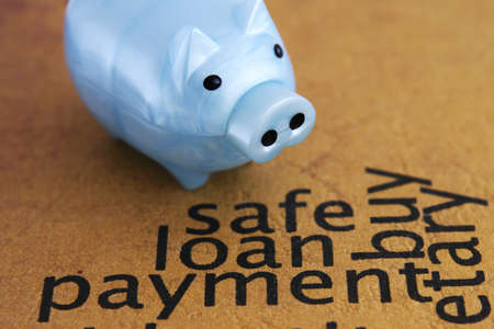 Safe loan concept Stock Photo - 13576434