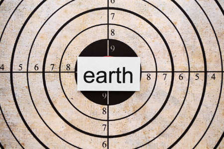 Earth target Stock Photo - 11861239