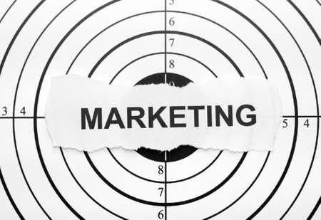 Marketing target photo