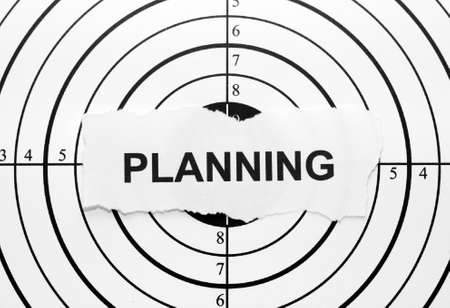 adversaries: Planning target Stock Photo