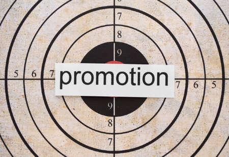bull     s eye: Promotion target Stock Photo
