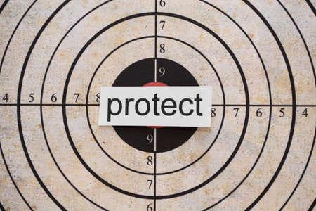 rifleman: Protect target Stock Photo