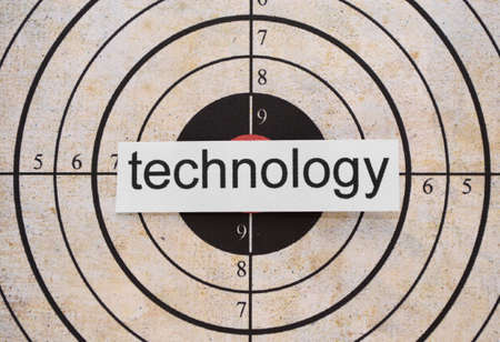Technology  target photo