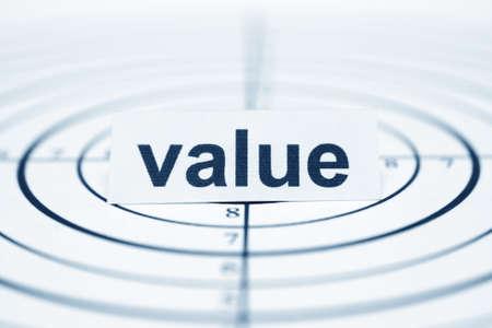 valor: Valor objetivo Foto de archivo