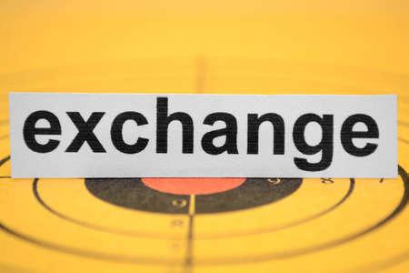 Exchange target Stock Photo - 11978348