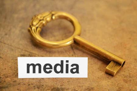 media and key concept photo