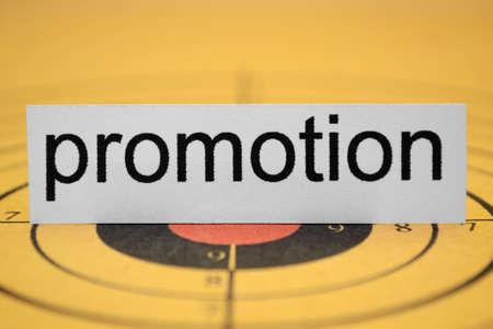 basic scheme: Promotion target Stock Photo