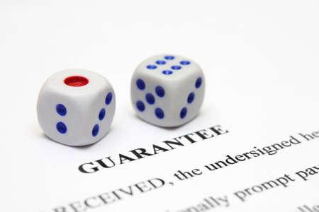 Guarantee form Stock Photo - 12149844