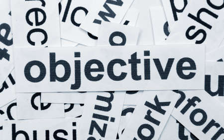 Objective concept Stock Photo - 12149860