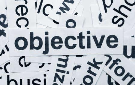 Objective concept photo