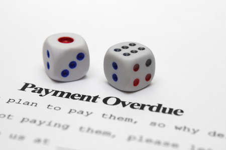 overdue: Payment overdue  Stock Photo