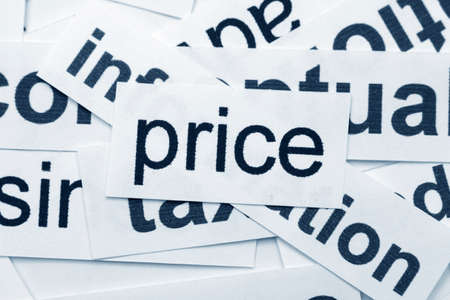 price word cloud  Stock Photo