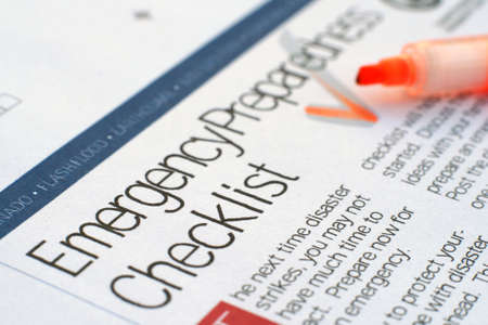 Emergency checklist photo