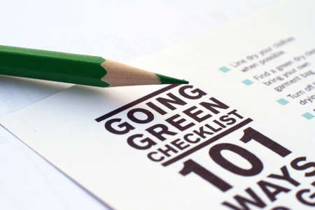 Going green checklist Stock Photo - 12149899
