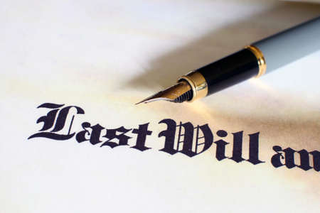 old testament: Last will and testament  Stock Photo