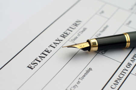 Estate tax form  photo