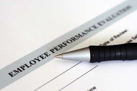 appraisal: Performance evaluation form  Stock Photo