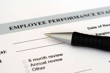 reviews: Performance evaluation form  Stock Photo