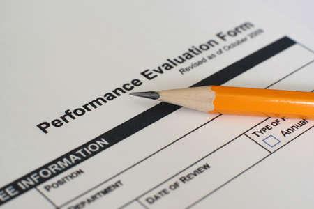 Performance evaluation form  photo