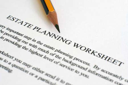 Estate plan sheet Stock Photo - 12547575